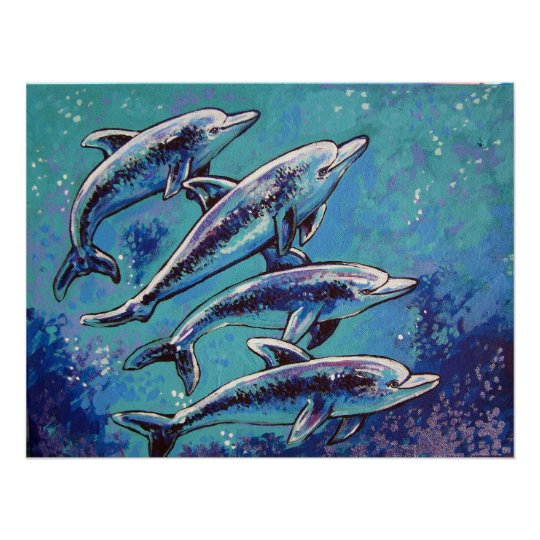 dolphins poster