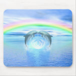 Dolphins Rainbow Healing Mousepad
