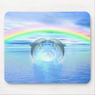 Dolphins Rainbow Healing Mouse Pad