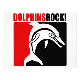 Dolphins Rock 2 Personalized Invitation