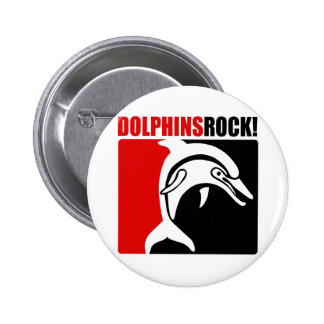 Dolphins Rock! #2 Pinback Button