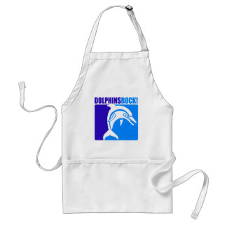 Dolphins Rock! #4 Adult Apron