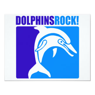 Dolphins Rock! #4 4.25x5.5 Paper Invitation Card