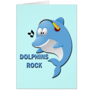 DOLPHINS ROCK GREETING CARDS