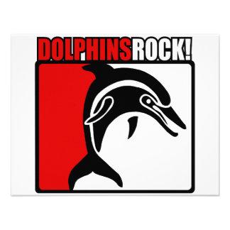 Dolphins Rock Custom Invitations