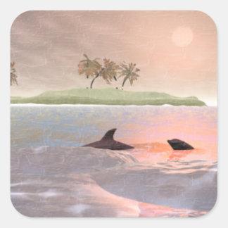 Dolphins Scene Sticker