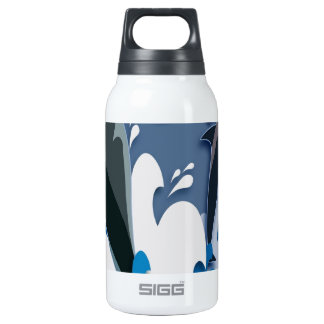 Dolphins Sea jump Swimming Funny Photo Colorful Insulated Water Bottle