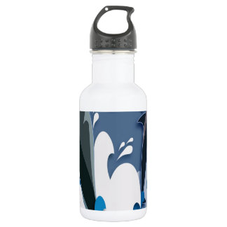 Dolphins Sea jump Swimming Funny Photo Colorful Stainless Steel Water Bottle