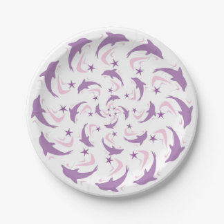 Dolphins 7 Inch Paper Plate