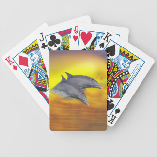 Dolphins surfing the waves bicycle playing cards