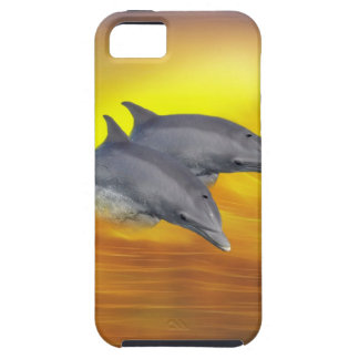 Dolphins surfing the waves iPhone SE/5/5s case