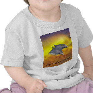 Dolphins surfing the waves tee shirt
