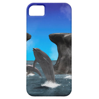 Dolphins swim and jumping in the sea iPhone 5 covers
