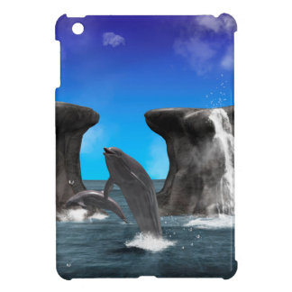 Dolphins swim and jumping in the sea cover for the iPad mini