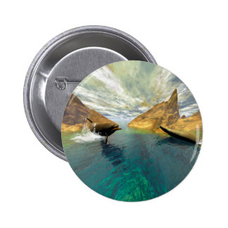 Dolphins swimming pinback buttons