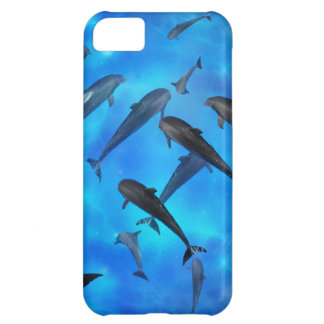 Dolphins swimming in the ocean iPhone 5C case