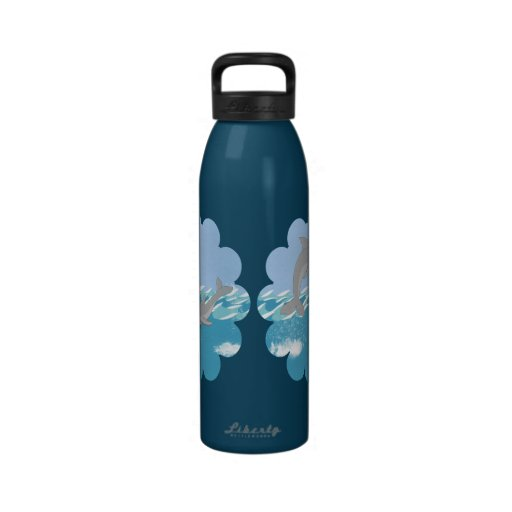 Dolphins Swimming in the Ocean Drinking Bottle