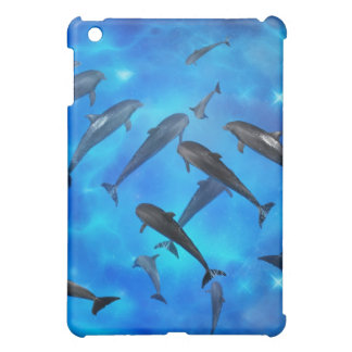 Dolphins swimming in the ocean iPad mini cover