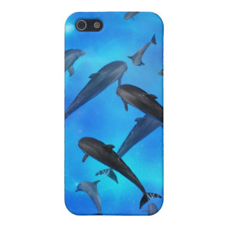 Dolphins swimming in the ocean cases for iPhone 5