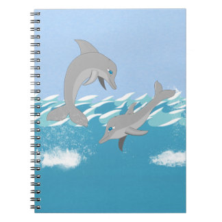 Dolphins Swimming in the Ocean Note Book