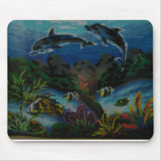 dolphins swimming mouse pad