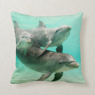 DOLPHINS SWIMMING PILLOW CUSHION