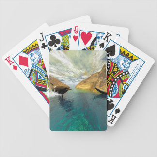 Dolphins swimming bicycle poker deck