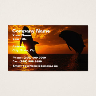 Dolphins Symphony at Sunset Business Card