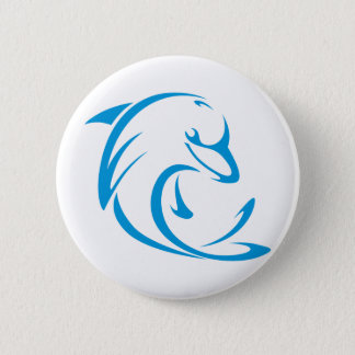 Dolphins T Shirt | Cool Dolphins T Shirt Logo Pinback Button