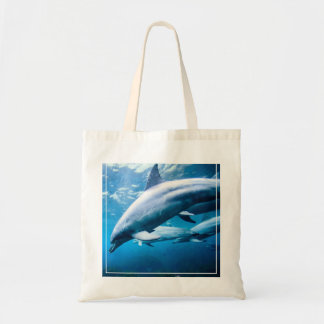 Dolphins Underwater Tote Bag
