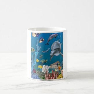 Dolpins art coffee mug