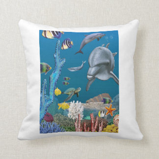 Dolpins art throw pillow