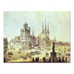 "Dom And Severin Church In Erfurt Details By Ramée 4.25"" X 5.5"" Invitation Card"