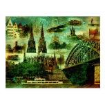 Dom de Kölner de la postal de Postkarte