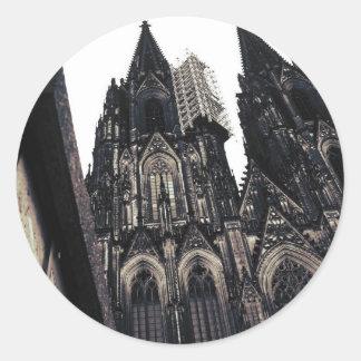 Dom de Kölner Pegatina Redonda