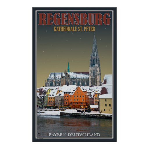Dom de Regensburger a través del Donau Impresiones