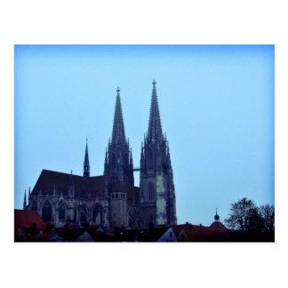 Dom de Regensburger Alemania Tarjeta Postal