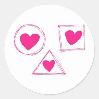 Dom Dia Dos Namorados Classic Round Sticker