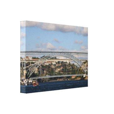 Beach Themed Dom Luis I Bridge, Porto, Portugal Canvas Print