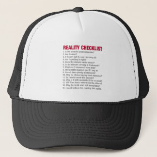 Domaining reality checklist trucker hat