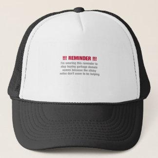 Domaining reminder trucker hat