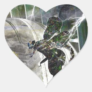 Dome Attack Heart Sticker