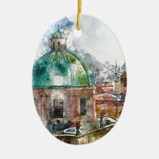 Dome in Prague Czech Republic Ceramic Ornament