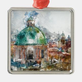 Dome in Prague Czech Republic Metal Ornament