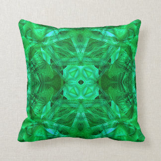 Dome Mandala (green) Pillow