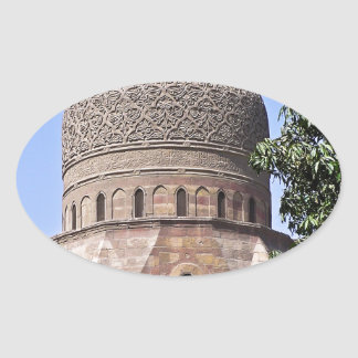 Dome of a mosque in Cairo Oval Sticker