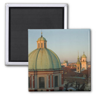 Dome of Church of Saint Francis, Prague, Czech 2 Inch Square Magnet