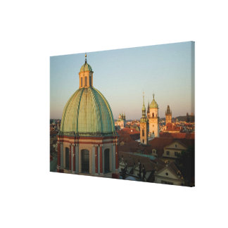 Dome of Church of Saint Francis, Prague, Czech Canvas Print
