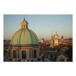 Dome of Church of Saint Francis, Prague, Czech Art Photo
