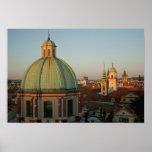 Dome of Church of Saint Francis, Prague, Czech Print